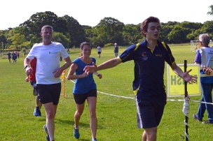 Finish line at the local 5km Parkrun