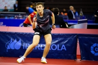 Action shot of Matthew at the 2020 ITTF Spanish Open Photo Source: ittfworld