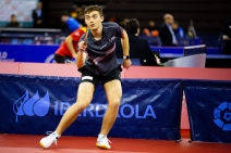 Action shot of Matthew at the 2020 ITTF Spanish Open Photo Source: ittfworld