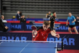 Action shot of Matthew at the ETTU 2020 U21 European Championships in Varaždin, Croatia Photo Source: ittfworld