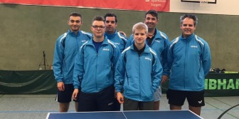 Matthew with his 2019/2020 German League team TTG Niederkassel